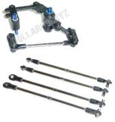 Traxxas E-Maxx Brushless * SERVO SAVER & TURNBUCKLES * Bell Crank Steer Tie Rods
