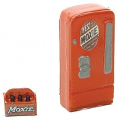 HO Scale Upright Soda Machine w/Case -- Moxie