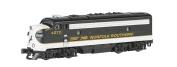 Bachmann Industries EMD F7-A Diesel Locomotive DCC Equipped Norfolk Southern Train Car, Black/Grey, N Scale