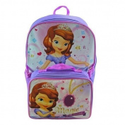 Disney Sofia the First 41cm Backpack School Bag with Detachable Lunch Kit