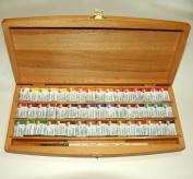 48 White Nights Watercolour Paint Set Beech Box with brush