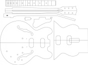 Electric Guitar Routing Template - 335