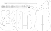 Electric Guitar Routing Template - '69 Thin