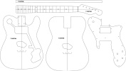 Electric Guitar Layout Template - T Custom