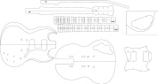 Electric Guitar Layout Template - SG