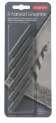 Derwent Natural Graphite Blocks, Pack, 6 Count