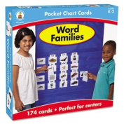 Word Families Cards for Pocket Chart, 4 x 2 3/4, 164 Cards, Ages 4-5
