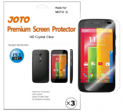 Motorola MOTO G Screen Protector - JOTO Ultra HD Crystal Clear (Invisible) version Japanese Screen Protector Film Guard for 2013 Motorola MOTO G smartphone, with Lifetime Replacement Warranty