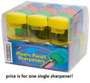 Tiger 2 hole pencil and crayon sharpener x 1 single cannister tub barrel