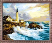 Diy oil painting, paint by number kit- Dawn 16*50cm .
