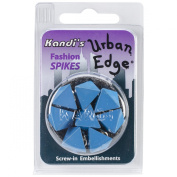 Kandi Corp Urban Edge Pyramid Screwback Spike 13mmx9mm 8-Pack-Blueberry Blue