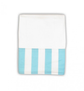 Caught Ya Lookin' Baby Burp Cloth, Blue and White