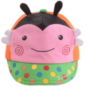 Infant Sun Protection Hat Baby Beaked Cap Toddler Floppy Cap Cute Bee Pink
