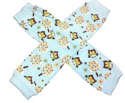 KWC - Blue Brown White Owl Baby Leg Warmer