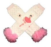 KWC - Light Pink Ballerina with Chiffon Ruffles Baby Leg Warmer