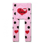 Wrapables Baby and Toddler Leggings, I Heart Mama Pink, 6-12 Months