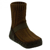 Nowali Brown Cable Knit Moccasin - 18mnt