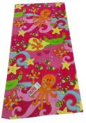 "Aloha 100% Cotton Beach Towel ""Under The Sea"" Pink/Multicoloured"