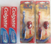 Spiderman Toothbrush (2) and Colgate Cavity Protection Toothpaste