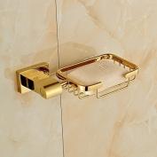 Luxury Gold Finish Soap Basket Wall Mount Soap Dish Holder