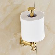 rozin Gold Polished Upright Style Toilet Paper Holder Wall Mount Tissue Bracket