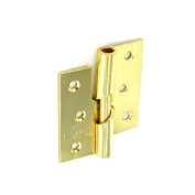 Securit Rising Butt Hinge Brass Plated 75mm