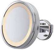 See All HLCSA1095 Halo Lighted 25cm Diameter Wall Mounted Make Up Mirror 5X, Chrome