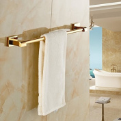 Gold Finish Brass Bathroom Single Towel Bar Wall Mount Towel Rack