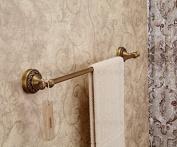 Wall Mount Bathroom Single Towel Bar Antique Brass