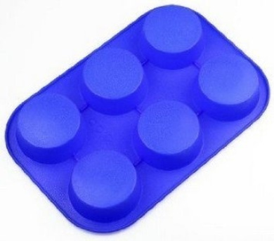 Lvxuan 6 Round Silicone Cake Baking Mould Cake Pan Muffin Cups Handmade Soap Moulds Biscuit Chocolate Ice Cube Tray DIY Mould