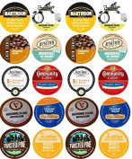 20 Cup Good Morning! Time To Wake Up Coffee Sampler, Light and Medium Roast Morning Blends
