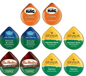 10 TASSIMO® T-Disc DECAF Variety Sampler! 5 unique Decaf varieties! Hag Crema, Tim Horton's, Gevalia ++