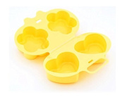 Love Flower Shape Microwave Steamed Egg Mould Omelette Box for Fried Eggs