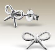 Bow Earrings, Children Earrings, Sterling Silver 925,