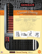 General 33-Piece Classic Charcoal Drawing Set