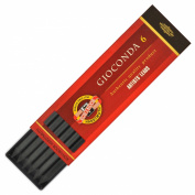 Koh-I-Noor 6 Gioconda Negro 5.6 mm Black Drawing Leads. 4345/2 Medium
