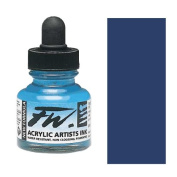Fw Acrylic Artists Ink 30ml Prussian Blue