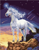 Diy oil painting, paint by number kit- Unicorn 16*50cm .