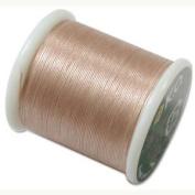 Japanese Nylon Beading K.O. Thread for Delica Beads - Natural Beige 50 Metres
