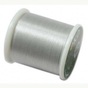 Japanese Nylon Beading K.O. Thread for Delica Beads - Light Grey 50 Metres
