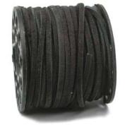 3.0MM Split Suede Leather Lace Black 25 Yard Spool 42669