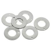 20 Stainless Steel Stamping Blanks Tags Donuts Ring Charm Pendants 20mm 6/8 Inch