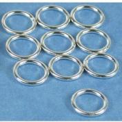 10 Sterling Silver Jump Rings Closed Jewellery 18 Gauge 8mm