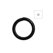 About 750pcs Zacoo Open Jump Rings Shape Round Colour Black 5x5x0.7 Outside Diameter 5mm
