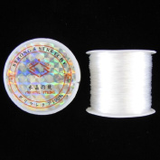 70m stretch elastic beading cord .5mm white