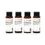 CandleScience Candle Scent Herbal Fragrance Sampler, 4 bottles