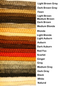 Crepe Wool Hair- Medium Brown Colour for Doll Making or Theatrical Uses