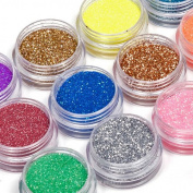 Nail Art Acrylic Glitter Dust Powder