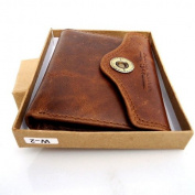 Men Money 100% Original Genuine Leather Slim Wallet Coin Natural Pocket Purse Au Retro Style.