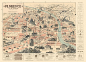 Cavallini & Co. Florence Map Decorative Decoupage Poster Wrapping Paper Sheet